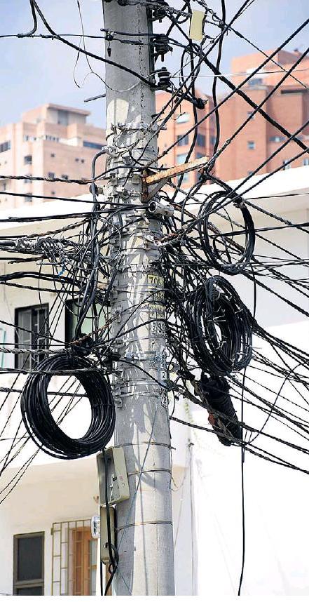 Beaucoup de câbles !
