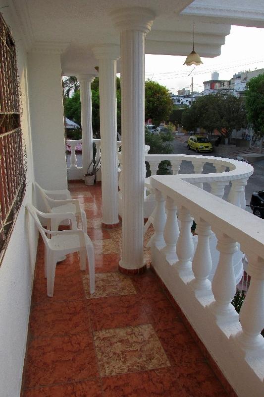 La terrasse à l'avant de ma maison à Barranquilla