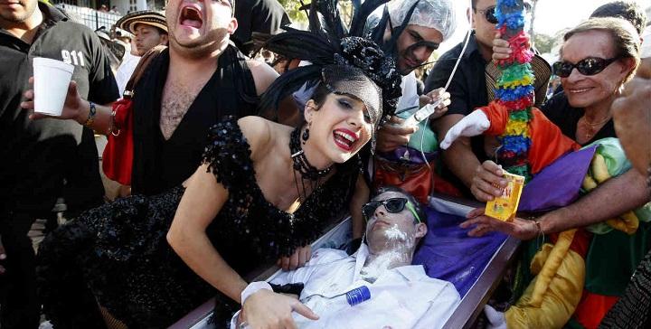 Joselito est symboliquement enterré le dernier jour du Carnaval.