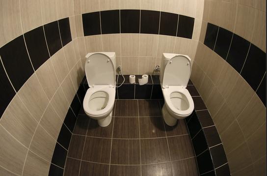 Lits jumeaux et toilettes jumelles !